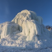 """""""Montagnes de galce"""" en bordure du lac gelé"""