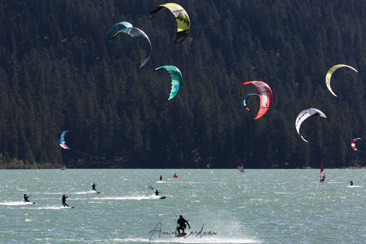 Grisons: Sport aquatique sur le lac de Silvaplana