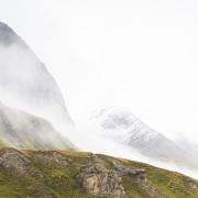 Grisons: Col de l'Albula sous le brouillard