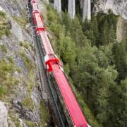 Grisons: Chemin de fer réthique sur le viaduc de Landwasser