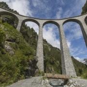 Grisons: Viaduc de Landwasser (160m de long et 65m de hauteur)
