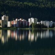 Grisons: Saint-Moritz par un matin ensoleillé