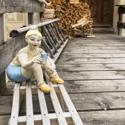 Grisons: Céramiques dans le village de Guarda