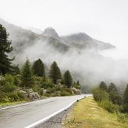 Grisons: Proximité du col de l'Albula sous le brouillard