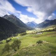 Grisons: Paysage depuis le village de Guarda